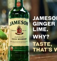 Jameson Irish Whiskey mit Drink-Awareness-Kampagne am Citylight