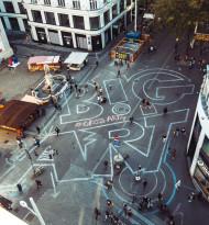 GroßARTige Aktion: Gerngross verwandelt Mariahilfer Straße in öffentliche Kunstleinwand
