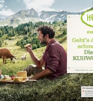 Mit ihrer Kuhwohl-Initiative präsentiert sich die ARGE Heumilch am Puls der Zeit