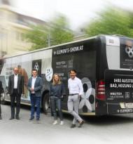 Buswerbung wirkt: Wenn das Badezimmer durch Klagenfurt rollt
