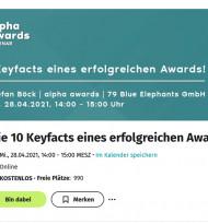 Webinar über erfolgreiches Einreichen bei Awards