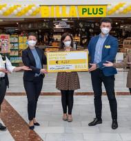 Wiener Billa Plus-Markt unterstützt gemeinsam mit Kunden St. Anna Kinderspital