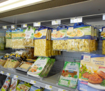 Zur Verpackung von Lebensmitteln unter Schutzgasen
